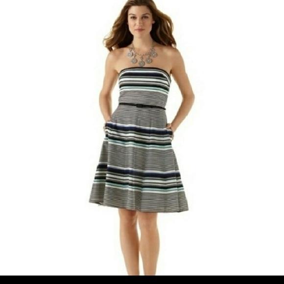 White House Black Market Dresses Strapless Dress Size 14 Poshmark